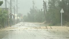 Road Covered In Sand After Hurricane Stock Footage