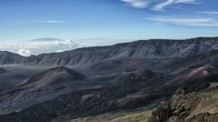 Haleakala, Maui, Hawaii, Volcanic Crater, Slow, HDR Time Lapse - stock footage