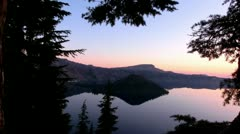 Crater Lake 17 Timelapse x60 Wizard Island Stock Footage