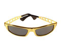Sunglasses gold Stock Photos
