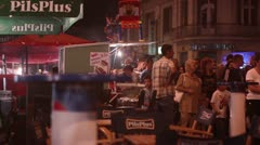 Barbecue fest (evening crowd) Stock Footage