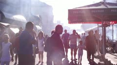 Barbecue fest (main street) Stock Footage
