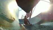 Stock Video Footage of Girl on waterslide