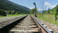 Railtrack into the nature Stock Footage