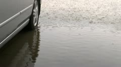 Car Raindrop Patterns Stock Footage