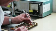 Working with transistor Stock Footage