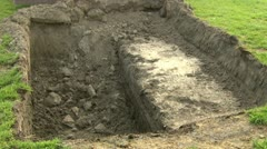 Digging - stock footage