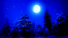 New Year Snow Christmas and Moon ( Series 2 - Version from 1 to 9 ) Stock Footage