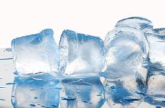 several ice cubes - stock photo
