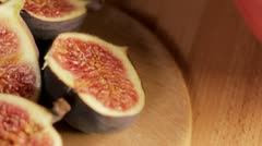 Tracking Figs Stock Footage
