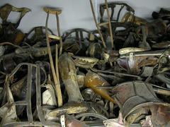 Auschwitz - Birkenau Leg Collection - stock photo