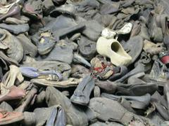 Auschwitz Shoes - stock photo