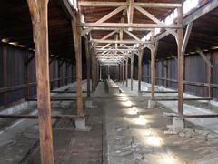 Auschwitz Baracks WW2 - stock photo