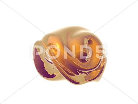 Stock Illustration of golden shell