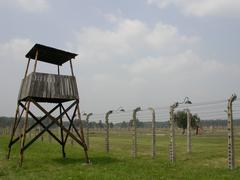 Auschwitz Holocaust - stock photo