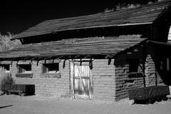 Stock Photo of old adobe barn