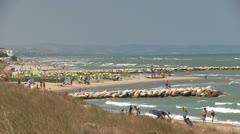 Italy - Adriatic sea coast - stock footage