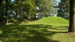 Viking age burial mound Stock Footage