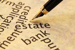 Estate and bank concept Stock Photos
