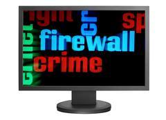 Web crime concept Stock Photos