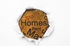 Homes and rent concept Stock Photos
