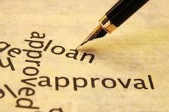 Stock Photo of loan approval