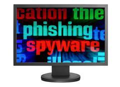 phishing and spyware - stock photo