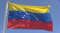 Venezuela flag Stock Footage