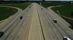 Dalas Texas Highways 3 - stock footage