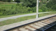 Rail track and Train Stock Footage