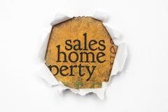Sales and home concept Stock Photos