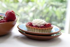 strawberry pastries - stock photo