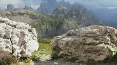 Dolomites view Stock Footage