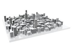 Stock Illustration of city model
