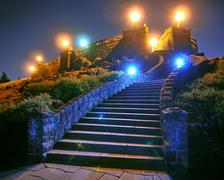 Steps at Rocky Butte Stock Photos
