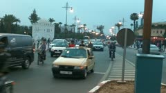 Middle east traffic driving vehicle maroc morroco Stock Footage