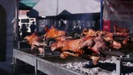 Stock Video Footage of Barbecue fest (pigs on a spit) _5