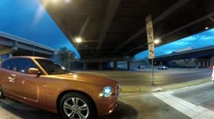 Fast Cars Turning Corner.MP4 Stock Footage