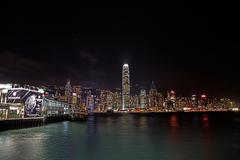 Hong Kong Night HDR.jpg Stock Photos