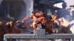 Barbecue fest (spit) Stock Footage