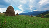 Summer landscape with hut. timelapse Stock Footage