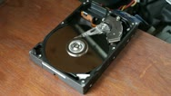 Stock Video Footage of Hard Disk Spinning