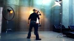 Backstage - stock footage