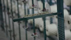 Stock Video Footage of spinning  machine collect cotton threads