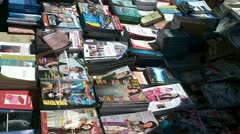 Foreign magazine marketplace Stock Footage