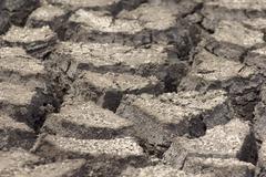 Dry cracked earth Stock Photos