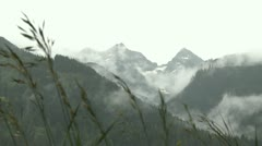 Rain and fog on the mountains Stock Footage
