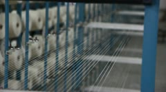 Spinning  machine collect cotton threads Stock Footage
