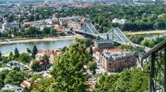 Dresden von Oben Stock Footage