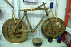 bicycle in the museum - stock photo